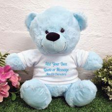 Custom Text Message Bear light Blue 30cm