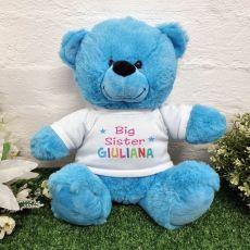 Big Sister Teddy Bear Bright Blue 30cm