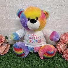 Big Sister Teddy Bear Rainbow Plush 30cm