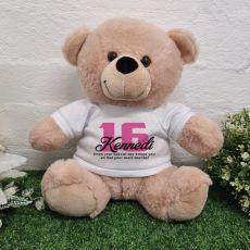 16th Birthday Bear Cream Plush 30cm