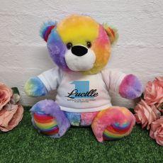 1st Birthday Bear Rainbow Plush 30cm