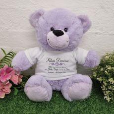 Baptism Bear Lavender Plush 30cm