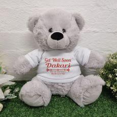 Get Well Soon Bear Grey 30cm