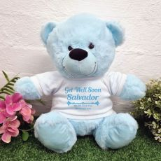 Get Well Soon Bear Light Blue 30cm