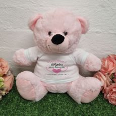 Memorial Remembrance Teddy Bear Light Pink 30cm