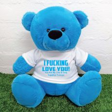 Naughty Love You Valentines Bear - 40cm Blue