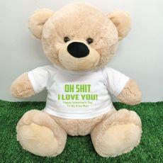 Love Your..Naughty  Bear with T-Shirt 40cm Cream