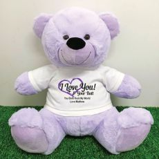 Valentines Bear Love Your Naughty Bits - 40cm  Lavender