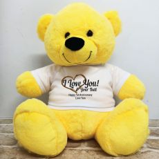 Valentines Bear Love Your Naughty Bits - 40cm Yellow