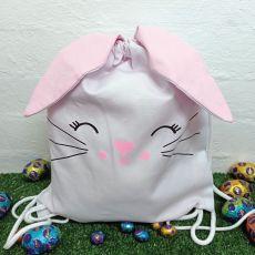 Easter Bunny PJ Backpack Bag - Pink