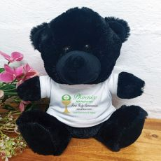 Personalised First Holy Communion Bear Black