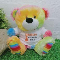 Personalised Dad Rainbow Teddy Bear