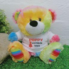 Personalised Pop Rainbow Teddy Bear