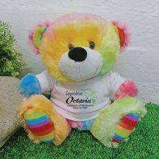Graduation  Personalised Teddy Bear Rainbow Plush