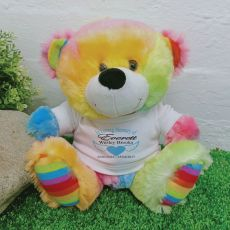 In Loving Memory Memorial Teddy Bear Rainbow Plush