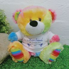 Personalised Naming Day Teddy Bear - Rainbow