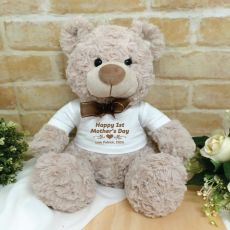 1st Mothers Day Personalised Shaggy Bear Brown