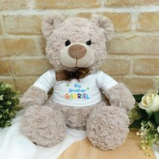 Brother Personalised Shaggy Bear Brown