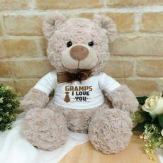 Grandpa Personalised Shaggy Bear Brown