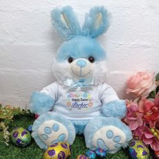 Personalised Easter Bunny Rabbit Plush - Bjay Blue