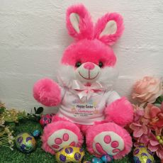 Personalised Easter Bunny Rabbit Plush - Bjay Pink