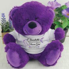 Thank You Flower Girl Purple Teddy Bear