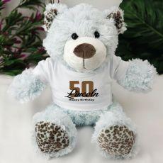 50th Teddy Bear Personalised Plush