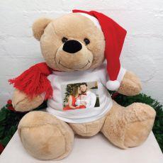 Personalised Christmas Bear 40cm Photo T-Shirt