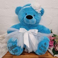 Baby Princess Teddy Bear 40cm Bright Blue
