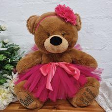 Birthday Ballerina Teddy Bear 40cm Plush Brown