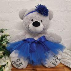 Baby Ballerina Teddy Bear 40cm Plush Grey