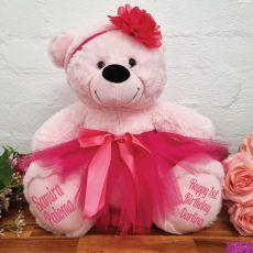 1st Birthday Ballerina Teddy Bear 40cm Light Pink