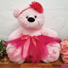 Personalised Ballerina Teddy Bear 40cm Light Pink