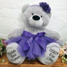 Ballerina Baby Teddy Bear 40cm Grey