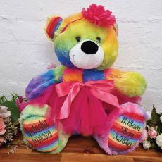 Baby Teddy Bear 40cm Rainbow Ballerina