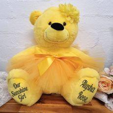 Personalised Ballerina Teddy Bear 40cm Plush Yellow