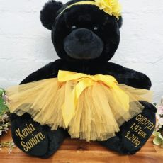 Ballerina Baby Teddy Bear 40cm Black