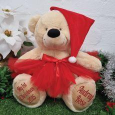 1st Christmas Princess Teddy Bear 40cm Plush