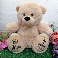 Baptism Personalised Teddy Bear 30cm Cream