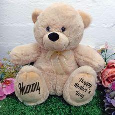 Mum Personalised Teddy Bear 30cm Cream