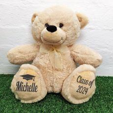 Personalised Graduation Bear Cream 40cm