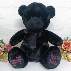 Personalised 16th Birthday Bear 40cm Black Plush