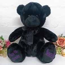 Personalised 18th Birthday Bear 40cm Black Plush