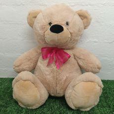Keepsake Bear with Secret Zipper 40cm Cream / Pink