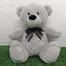 Keepsake Bear with Secret Zipper 40cm Grey / Black