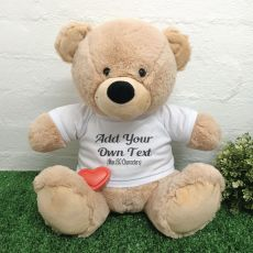 Voice Recordable Custom Bear with T-Shirt - Cream 40cm
