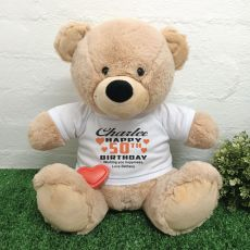 Birthday Bear with Voice Recorder 40cm Cream