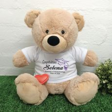 Voice Recordable Graduation Bear with T-Shirt - Cream 40cm