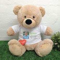 Voice Recordable Memorial Photo Bear- Cream 40cm