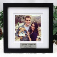 Personalised Engagement Instagram Photo Frame 5x5 White/Black Wood